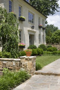 Multiple Family Suites - traditional - exterior - baltimore - by Penza Bailey Architects French Country Houses Exterior, Country Home Exteriors, French Country Living Room, Cottage Exterior, French Cottage, Country Homes, House Exteriors, Country Life, Country Style