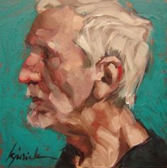 """""""200 Faces, No. 106"""" - Original Fine Art for Sale - © Karin Jurick"""