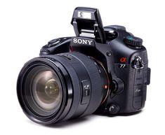 Sony Alpha 77 (SLT-A77VQ)  The Sony Alpha 77 pumps out 24-megapixel stills at 10.3 frames per second and records 1080p60 video with continuous autofocus. Solid low-light performance, a sharp f/2.8 kit lens, a high-quality OLED EVF, and GPS capability round out the package.