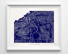 Cleveland, Ohio, Street, Map, $19.95 - Shipping Worldwide! [Click Photo for Details]