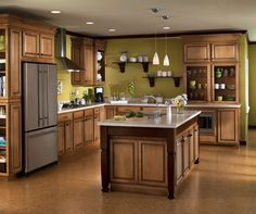 More ideas below: Small L Shaped Kitchen With Island Floor Plans Galley L Shaped Kitchen Layout Design Farmhouse L Shaped Kitchen With Peninsula Tiny L Shaped Kitchen Remodel Ideas L Shaped Kitchen With Pantry and Bar Glazed Kitchen Cabinets, Maple Cabinets, Oak Cabinets, Bathroom Cabinets, White Cabinets, Cupboards, L Shaped Kitchen Designs, Best Kitchen Designs, Kitchen And Bath Remodeling