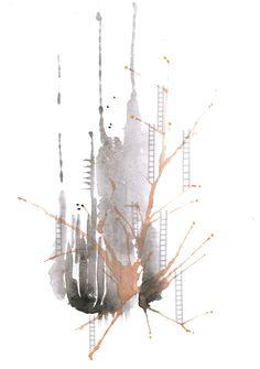 WATERCOLOR PRINT. LOUISE HAUGAARD NIELSEN