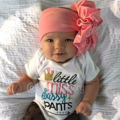 Pink Messy Bow Head Wrap Pink Bow Headwrap Baby by NeAccessory