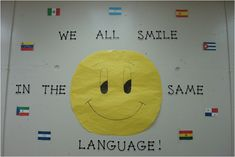 Bulletin board or classroom decoration for foreign language classroom....