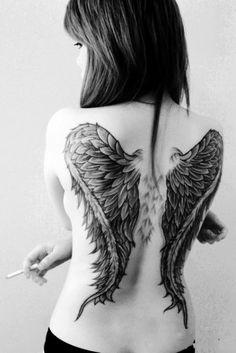 Cool Wings Girls Tattoo