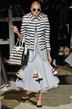Thom Browne, Spring 2012 taking a springy Nautical look to the extreme.  OUCH, this pic hurts;)