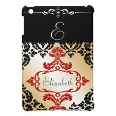 Chic Damask Monogrammed  iPad Mini Case We have the best promotion for you and if you are interested in the related item or need more information reviews from the x customer who are own of them before please follow the link to see fully reviewsThis Deals          Chic Damask Monogram...