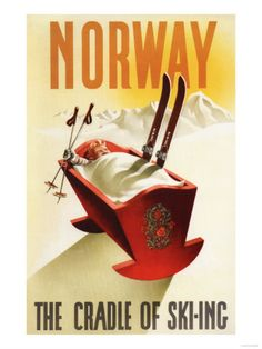 Vintage travel poster - Norway - Winter Sports