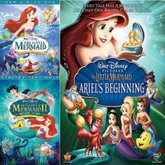 The Little Mermaid Movies Trilogy Set on DVD