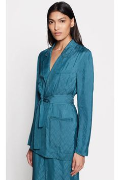 Ramond Blazer by Equipment at ORCHARD MILE Wine Gift Boxes, Smoking Jacket, Going Out, How To Make, How To Wear, Blazer, Model, Jackets, Vintage