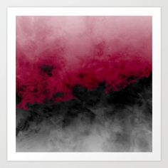 Zero Visibility Crimson Art Print by Caleb Troy - $15.00