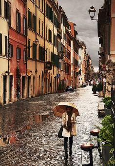Rain - Rome, Italy