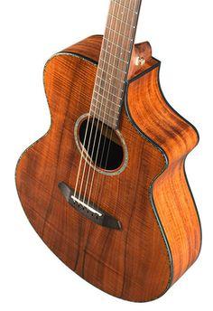 Breedlove Pursuit Concert Koa Acoustic Electric Guitar