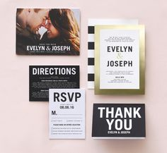 City Chic Wedding Invitation from Wedding Paper Divas