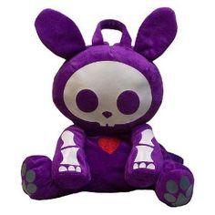 Skelanimals Purple Jack Plush Backpack
