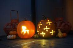 Halloween Jack O lanterns Mid Century