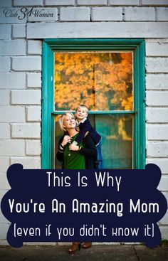 For the most encouraging words you've heard in a long time....from an experienced mom who really knows. This Is Why You're an Amazing Mom {Even If You Didn't Know It}!