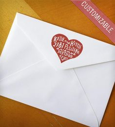 Custom Rubber Address Stamp with Hand-Drawn Heart  by Ready Maker Design on Scoutmob Shoppe