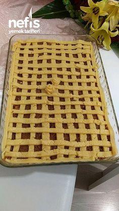 Elmalı Turta ( Büyük Borcam Ölçülü ) - Nefis Yemek Tarifleri Butcher Block Cutting Board, No Bake Cake, Ham, Food And Drink, Bread, Baking, Kitchen, Desserts, Recipes