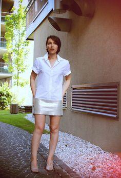 ::: OutsaPop Trashion ::: DIY fashion by Outi Pyy :::: DIY Leather shirt dress