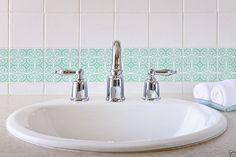 Set Retro Tile Art Wall Decals Sticker DIY Removable Kitchen Bathroom Vinyl 1235 | eBay