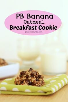 PB Banana Oatmeal Breakfast Cookies - 1 1/4 cup mashed ripe banana, 1/2 cup pb, 2 cups oats, 1/4 chocolate chips, baking soda, cinnamon and sea salt. bake for 15 minutes. Enjoy!