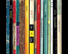 REM Albums As Penguin Books Poster Print   Literary Paperback Rock Music Art   Michael Stipe Peter Buck Home Decor