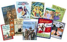 Read Through History III. Revolutional War books for kids from Delightful Children's Books.