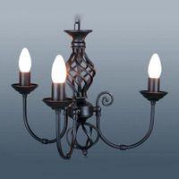 Living Room - Classic Twist 3 Light Black Ceiling Light - £60