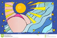The Harmony Of The Charm Of Vacation At Sea. Sun, Sea And A Woman. Stock Illustration - Illustration of woman, female: 65878701 Vectors, Charmed, Sign, Stock Photos, Vacation, Female, Woman, Illustration, Pictures