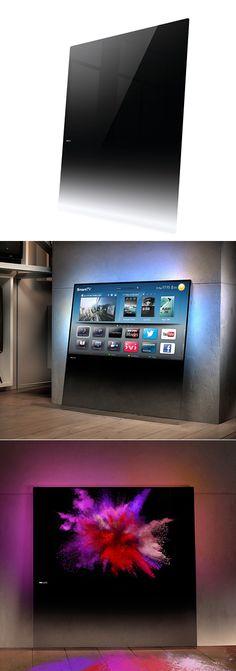 Philips' Minimalist, Monolithic DesignLine TVs 이쁘긴한데.. 선이랑 셋팁박스 어쩔라고...