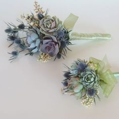 "Once you see a bouquet of succulents it's easy to say """"I do"""". Whether it's all succulents or succulents with mixed flowers it'll be a bouquet to remember. Neutral Wedding Flowers, Wedding Flower Guide, Flower Bouquet Wedding, Wedding Ideas, Prom Flowers, Lilac Wedding, Prom Ideas, Silk Flowers, Spring Wedding"