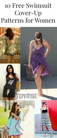 Need a swimsuit cover-up? Sew one yourself with one of these 10 Free Swimsuit Cover-Up Patterns for Women. Summer fashion style with many dress-style swimsuit covers patterns and step-by step tutorial.