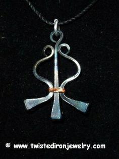 Twisted Harp Horseshoe Nail Necklace