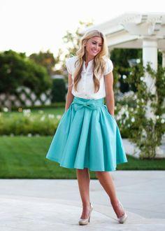 bow skirt: kind of looks like one of 's skirts…. Bow Skirt, Dress Skirt, Pleated Skirt, Satin Skirt, Prom Dress, Look Fashion, Womens Fashion, Fashion Ideas, Jw Fashion