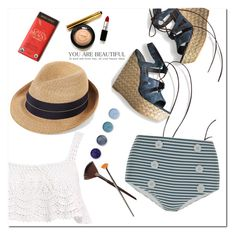 """""""Being Chill"""" by adduncan ❤ liked on Polyvore featuring Stuart Weitzman, La Perla, Beauty & The Beach, Eugenia Kim, Terre Mère, lace, beachwear, vacation and summer2016"""