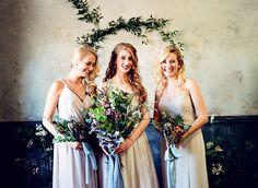 bridal party - photo by Ashlee Mintz Photography http://ruffledblog.com/jewel-toned-romantic-bridal-inspiration