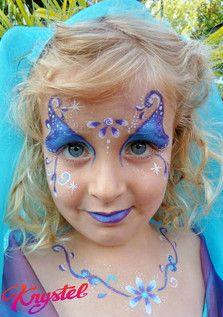 Maquillage fee des fleurs superbe facile rapide - Modele maquillage princesse ...