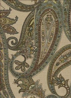 Classically styled 100% cotton paisley pattern in a wonderful color array including blue, grey, and jade.