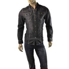 Buffalo David Bitton Shirt Mens Contrast Stitch Utility T Shirts Size M $79 NEW #BuffaloDavidBitton #ButtonFront    Get Dressed at http://ImageStudio714.com http://stores.ebay.com/ImageStudio714