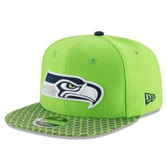 b34285d2f1b Seattle Seahawks New Era Youth 2017 Sideline Official 9FIFTY Snapback Hat -  Neon Green