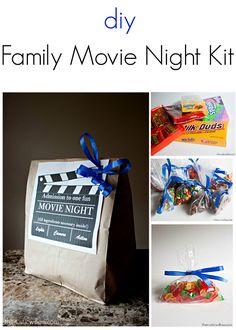 Family Movie Night Kit | My Crafty Spot