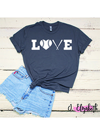 J Elizabeth Boutique - Product Catalog - For the Love of the Game, Baseball Mom Shirt