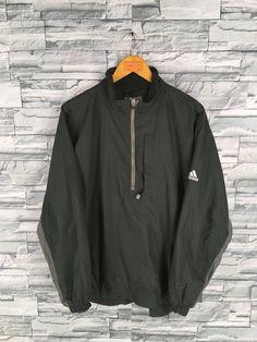 9e82a94a203d ADIDAS Jacket Windbreaker Mens Medium Vintage 90 s Adidas Equipment Three  Stripes Track Top Sportswe