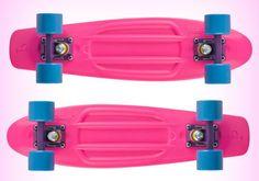 pink skateboard