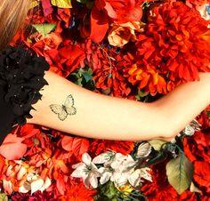 tatuaje mariposa / mariposas tatuaje falso tatuaje por temptatco
