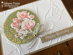 Color Of The Week, Homemade Birthday Cards, Birthday Sentiments, Card Maker, Fine Art Gallery, Flower Cards, Stampin Up Cards, Happy Birthday, Art Flowers