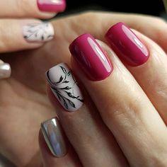 and Beautiful Nail Art Designs Acrylic Nail Designs, Nail Art Designs, Korea Nail Art, Natural Acrylic Nails, Nail Designer, Floral Nail Art, Trendy Nail Art, Manicure E Pedicure, Elegant Nails
