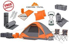 family camping chairs set - Camping Equipment Family Cabin Set 4 Person Tent Sleeping Bag Chairs Hiking Gear ** To view further for this item, visit the image link. (This is an affiliate link) Best Tents For Camping, Tent Camping, Camping Gear, Outdoor Camping, Outdoor Gear, Camping Store, Camping Cabins, Camping Table, Camping Gadgets
