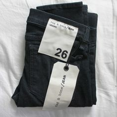 Rag and Bone Jeans Pretty Outfits, Cute Outfits, Swing Tags, Clothing Labels, Rag And Bone, Leggings Fashion, Black Denim, Custom Clothes, Ripped Jeans